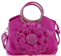 bb simon - synthetic leather metal handle flower bling BB simon tote bags for women cost
