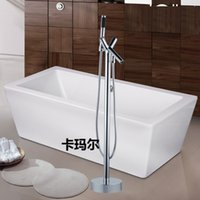 Wholesale Modern Chrome Fixed Floor Stand Mounted Bathtubs Faucets Water Mixers Bath Crock Tap Sauna Room Sets Spa Tub Furniture Bathroom Shower Sets