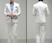 Wholesale Men s clothing slim suit white wedding suits white suit dress suit Coat Pants Vest tie Shirt TZ019 new design mens wedding suit