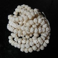 Wholesale TSB0320 Tibet white Yak Bone carved Lotus loose prayer beads mm beads