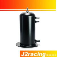 Wholesale J2 RACING STORE BLACK Universal Dual Aluminium L fuel Surge Tank PQY TK17BK Fuel tank