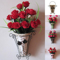 Wholesale Vintage Weave Vine Wall Hanging Flower Basket Flower Arrangment Home Decor New
