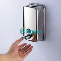Wholesale 500ml Bathroom Lotion Pump Wall Mounted Stainless Steel Soap Shampoo Dispenser