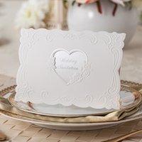 arabic birthday cards - Elegant European Elegant Wedding Invitation Cards Custom Text Design White Muslim Arabic Party Event Free Envelope