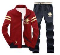 Wholesale 2 brand tracksuit men joggers for men hoodie polo mens tracksuits outdoor sport jacket coat sweat pants print XL