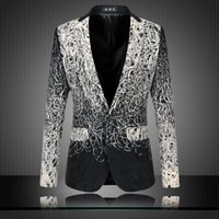blazer jacket men - Fashion New Design Men Blazer Floral Suit Personality Casual Blazer For Men Blazer Slim Fit Jacket Men Plus Size XL XL Fashion Blazer
