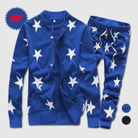 Wholesale New Men Casual Sports Hip Hop Tracksuits Hoodies Sweatshirt Moleton Suit Drop Crotch Harem Pants Joggers Men Clothing Set