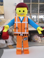 Wholesale Lego Emmet Adult Unisex Cartoon Mascot Costume Custom Made