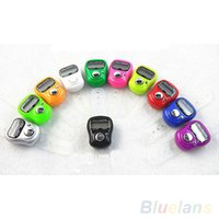 Wholesale Electronic Row Counter Finger Ring Golf Digit Stitch Marker LCD Tally Counter PHB