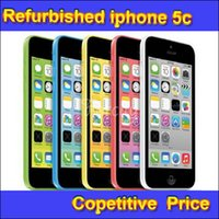 Wholesale Refurbished Original Apple iPhone C IMEI Unlocked GB GB IOS8 inch Dual Core A6 CPU MP Smart Phone Free DHL