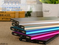 Cheap Luxury Polymer Super Slim Power Bank 20000mah Portable Charger External Battery 20000mah Mobile Phone Backup Powers 30pcs