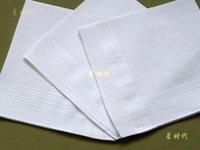 Wholesale 24pcs male cotton satin handkerchief white cm