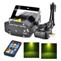 Wholesale New Mini Portable IR Remote R G Meteor Laser Projector Lights LED DJ KTV Home Xmas Party Dsico Show Stage Lighting OI100