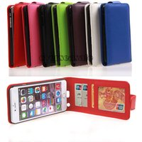 Wholesale Flip Vertical Wallet Leather skin case Credit ID card slots cover cases Photo Frame Photoframe For Iphone G plus