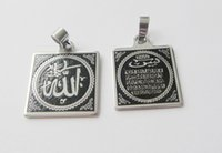 Wholesale Black Men pendant necklace pendant Arabic Islam Muslim scripture necklace jewelry necklace