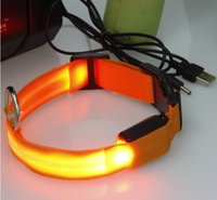 Wholesale LED USB Pet Dog Collars LED Pet Collar Lovely Pet Outdoor Luminous With USB Charge LED Collar