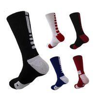wholesale athletic socks elite - USA Professional Elite Basketball Socks Long Knee Athletic Sport Socks Men Fashion Compression Thermal Winter Socks G259