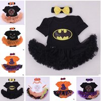 Wholesale Batman Superman Rompers Newborn Onesies TuTu Dress Superhero Toddler Outfit Infant Outwear Cartoon Cotton Baby Romper Baby One Piece m651