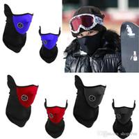 Wholesale 200pcs Neoprene Neck Warm Half Face Mask Winter Veil Windproof For Sport Bike Bicycle Motorcycle Ski Snowboard Outdoor Mask Men Women DHL