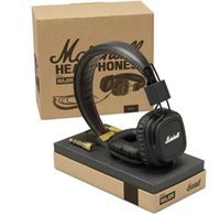 Cheap Genuine Marshall Major With Microphone & Remote On-Ear Pro Stereo DJ Headphone Black white color available New in box