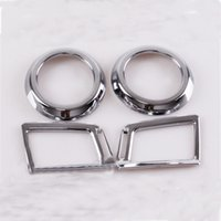 air vent covers - For Toyota RAV4 RAV Inner Decoration Trim Air Condition Vent Outlet Frame Cover Per set ABS chrome