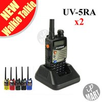 Wholesale New BaoFeng UV RA Dual Band Transceiver Mhz Mhz Two Way Radio Walkie Talkie Interphone with mAH Battery