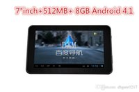 Wholesale Android car GPS inch HID GPS navigation D Voice Navigation MB GB Touch Screen7 quot with Map Automatically update wifi