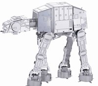 Wholesale Star Wars DIY Metal works model d Laser cut jigsaw puzzle model for educational learning toys and killing time