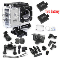 Wholesale mini camcorders gopro hero Full HD DVR SJ4000 video Sport go pro camera extreme Sport Helmet Action Camera battery