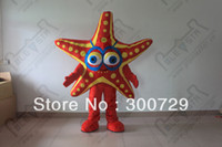 Wholesale hot sale starfish mascot costumes red star fish onesies for adults