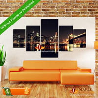 Cheap Digital printing wall pictures for bedroom Best irregular canvas 5 piece canvas wall art