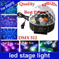 Wholesale Mini LED Stage Light RGB Crystal Magic Ball Effect light DMX Control Pannel Disco DJ Party Stage Lighting high quality pc