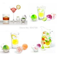 Wholesale 10sets Party Bar Plastic Cute Ice Cube Ball Tray Round Maker Mold