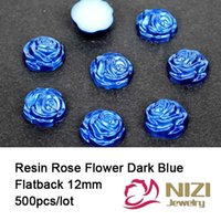 applique numbers - Resin Rose Flower mm Dark Blue Flatback Round Resin Rose Flower Resin Crafts Cabochons New Applique For Nail Art