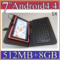 Wholesale 1X Q88 inch Android Tablet PC MB GB A33 Quad Core quot Tablet Capacitive WIFI quot Micro USB Keyboard Case PB