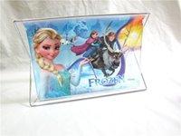 Wholesale 1pcs frozen PVC desktop cosmetics storage box foldable frame transparent plastic folding box receive shelf new