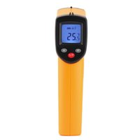 Wholesale GM320 Non Contact Laser LCD Display IR Infrared Digital Temperature Thermometer C F Emissivity T0007