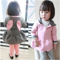 Wholesale 2014 New Style Girls Pretty Sweet Princess Coat Two Colors Hot Sale Childrens Hooded Casual Jacket