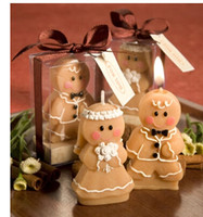 Wholesale 2015 Wedding wedding supplies wedding candles Romantic ideas in return Send men and women friends Gingerbread man candle gift