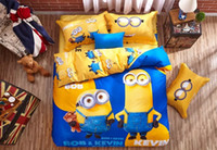 adults quality comforter set - Despicable Me Minions quality cotton bedding set bed linens twin queen king duvet quilt cover bed sheets pc comforter sets textile