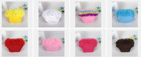 Wholesale 12pcs Baby pettiskirt pants infant petto pants ruffle PP pants underpants toddler ruffle bloomer diaper size S M L PP001