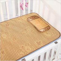 bamboo crib bedding - 2015 Baby Infant bed mat pillow set baby child kid bed mat rattan seats summer bamboo bed mat bedding set sleeping rest mat TOPB2986 set