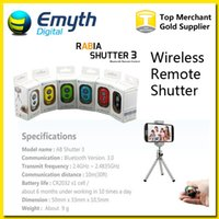 Wholesale Wireless Remote photo Camera Control Wireless Bluetooth Self timer Shutter for iPhone6 Iphone s Galaxy S5 S4 S3 Note3 Android