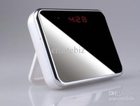 Wholesale 4GB T1000 Spy Camera HD Digital Mirror Clock Style Hidden DVR with Motion Detection Remote Control