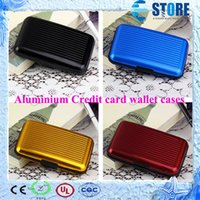 Wholesale Free DHL Aluminium Credit card wallet cases colors available card holder bank card case aluminum wallets Card Holder High Quality wu