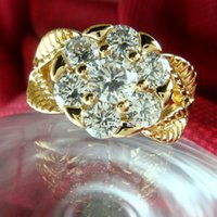 american jewelery - Jewelery Clear Sapphire K Gold Filled Flower wedding Ring Size O Q R260