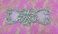 aa settings - Bowknot Pattem Crystal Rhinestone Applique Silver Settings Endless Rhinestone Bridal Headband AA cm cm