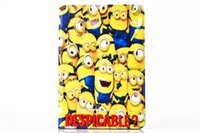 Wholesale 1ST Despicable Me Minions Soft tpu Stand Leather case cover for apple ipad MINI