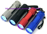 Wholesale 30pcs LED LED mini torch UV Light nm LED Flashlight AAA battery small torch not rechargeable torch