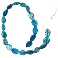 Wholesale New Arrival strings Blue Water Shape Stripe Beads Shell Beads mm